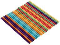 Декоративни цветни дървени пръчици - Комплект от 25 броя