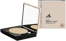 Manhattan 2 in 1 Perfect Teint Powder & Make Up - Пудра и фон дьо тен - гланц