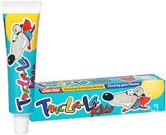 Dental Tra-La-La Kids Chewing Gum - Детска паста за зъби с аромат на дъвка - паста за зъби