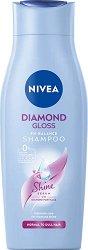 """Nivea Diamond Gloss Care Shampoo - Шампоан за диамантен блясък от серията """"Diamond Gloss"""" - мляко за тяло"""