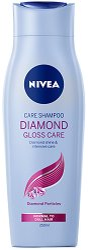 "Nivea Diamond Gloss Care Shampoo - Шампоан за диамантен блясък от серията ""Diamond Gloss"" - продукт"