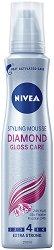 """Nivea Diamond Gloss Styling Mousse - Пяна за коса с екстра силна фиксация за диамантен блясък от серията """"Diamond Gloss"""" -"""