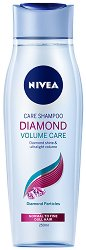 "Nivea Diamond Volume Shampoo - Шампоан за обем и блясък с кератин от серията ""Diamond Volume"" - гел"