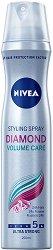 """Nivea Diamond Volume Styling Spray - Лак за коса за обем и блясък с ултра силна фиксация от серията """"Diamond Volume"""" - шампоан"""