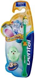 Soft Care Kids - Детска четка за зъби с поставка - паста за зъби