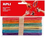Декоративни цветни дървени пръчици - Комплект от 39 броя