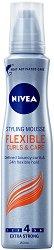 Nivea Flexible Curls & Care Styling Mousse - Пяна за къдрава коса за екстра силна фиксация - продукт