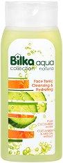 """Bilka Collection Aqua Natura Face Tonic Cleasing & Hydrating - Почистващ и хидратиращ тоник за лице от серията """"Aqua Natura"""" -"""