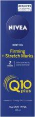 """Nivea Q10 Plus Firming + Stretch Marks Body Oil - Стягащо олио за тяло с коензим Q10 от серията """"Q10 plus"""" - продукт"""
