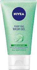 Nivea Purifying Wash Gel - Измиващ гел за лице за смесена кожа - шампоан