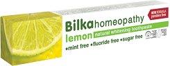 "Bilka Homeopathy Lemon Natural Whitening Toothpaste - Хомеопатична паста за зъби с екстракт от лимон от серията ""Homeopathy"" - сапун"