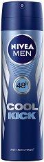 """Nivea Men Cool Kick Anti-Perspirant - Дезодорант за мъже против изпотяване от серията """"Cool Kick"""" - продукт"""