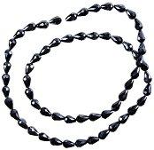 Мъниста с форма на капка - черни - Размери 0.7 x 12 mm