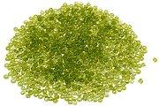 Стъклени мъниста - зелен мат
