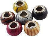 Дървени мъниста - различни цветове - Комплект от 10 броя