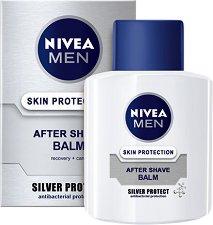 """Nivea Men Silver Protect After Shave Balm - Балсам за след бръснене за мъже от серията """"Silver Protect"""" - продукт"""