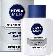 """Nivea Men Silver Protect After Shave Balm - Балсам за след бръснене за мъже от серията """"Silver Protect"""" - дезодорант"""