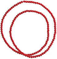 Стъклени перли за декориране - червени