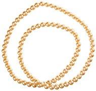 Стъклени перли за декориране - Лимон шифон - Размери 1.1 x 0.8 cm