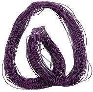 Памучен колосан шнур - тъмно лилав - Дължина 86 m