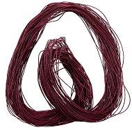 Памучен колосан шнур - бордо - Дължина 86 m