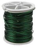 Декоративна алуминиева тел - зелена - Размер ∅ 0.8 mm x 12 m