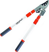 Ножица за клони с телескопична дръжка - С наковалня