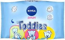 """Nivea Baby Toddies - Опаковка от 60 броя мокри кърпички за бебета и деца от серията """"Nivea Baby"""" - продукт"""