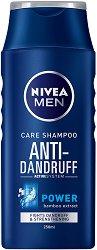 Nivea Men Care Shampoo Anti-Dandruff Power - Шампоан за мъже против пърхот с екстракт от бамбук - лосион