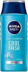 Nivea Men Care Shampoo Cool Fresh - Шампоан за мъже с ментол за нормална или мазна коса - шампоан