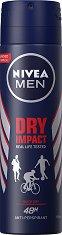"""Nivea Men Dry Impact Anti-Perspirant - Дезодорант за мъже против изпотяване от серията """"Dry Impact"""" - дезодорант"""