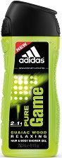 """Душ гел и шампоан за мъже - 2 в 1 - От серията """"Adidas Men Pure Game"""" -"""