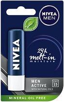 Nivea Men Active Care - SPF 15 - Балсам за устни за мъже - паста за зъби