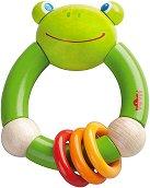Дрънкалка - Жабка - Дървена играчка - играчка