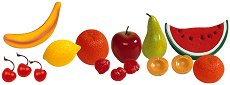 Фигури за игра - Плодове - Комплект от 15 броя - играчка