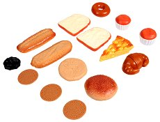 Сладкиши и хлебчета за игра - Комплект от 15 броя -