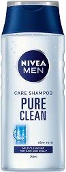 Nivea Men Care Shampoo Pure Clean - Шампоан за мъже с алое вера за честа употреба -