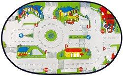 Килимче - Град - За игра с колички - играчка
