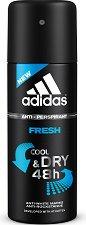 """Дезодорант против изпотяване за мъже - От серията """"Adidas Men Fresh"""" -"""