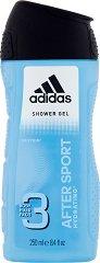 After Sport - Душ гел за тяло, коса и лице за мъже - 3 в 1 -