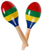 Дървени маракаси - Детски музикални инструменти -
