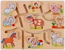 Напасни животните във фермата - пъзел