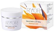 """Дневен крем за лице с Q10 и UV филтър - От серията """"RYOR Coenzyme Q10"""" - маска"""