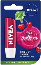 Nivea Cherry Shine Lip Balm - Балсам за устни с аромат на череша - лак