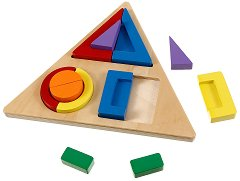 Свържи формите - Дървена образователна игра -