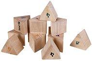 Дървени призми - Образователни дрънкащи играчки - раница