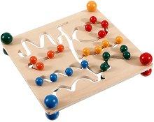 Двустранна дъска с пинчета - Образователна игра - играчка