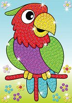 Създай сам картина с пайети - Папагали - Творчески комплект - играчка