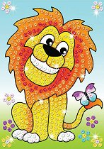 Създай сам картина с пайети - Лъвове - Творчески комплект - играчка