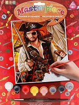 Нарисувай сам шедьовър - Пират - Творчески комплект -